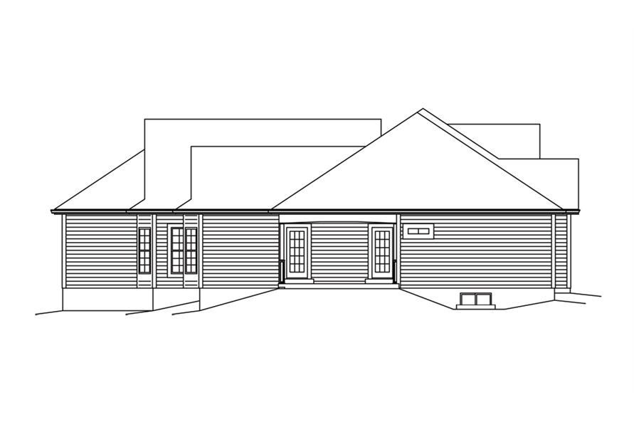 138-1292: Home Plan Left Elevation
