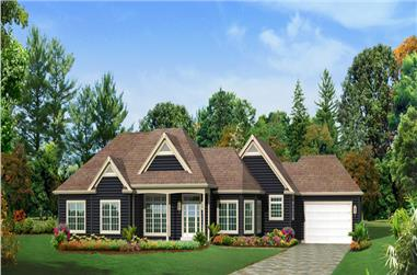 3-Bedroom, 2487 Sq Ft Ranch Home Plan - 138-1292 - Main Exterior