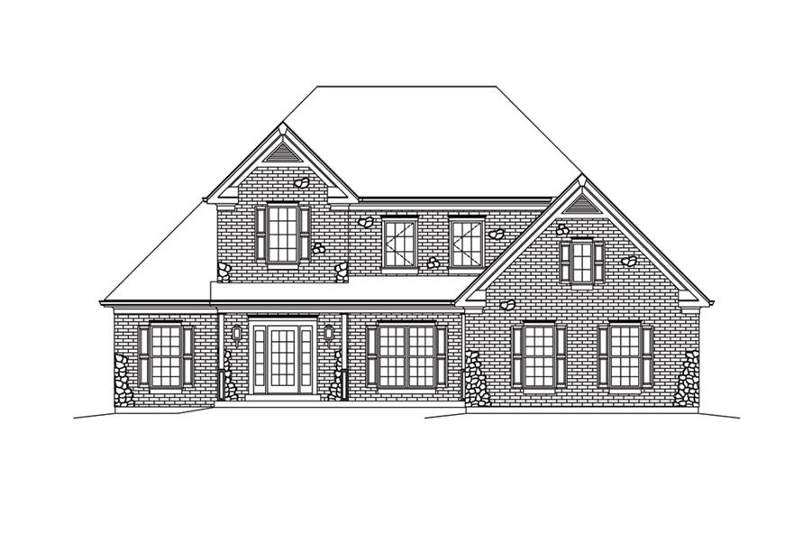 138-1293: Home Plan Front Elevation