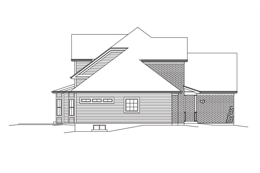 138-1293: Home Plan Left Elevation