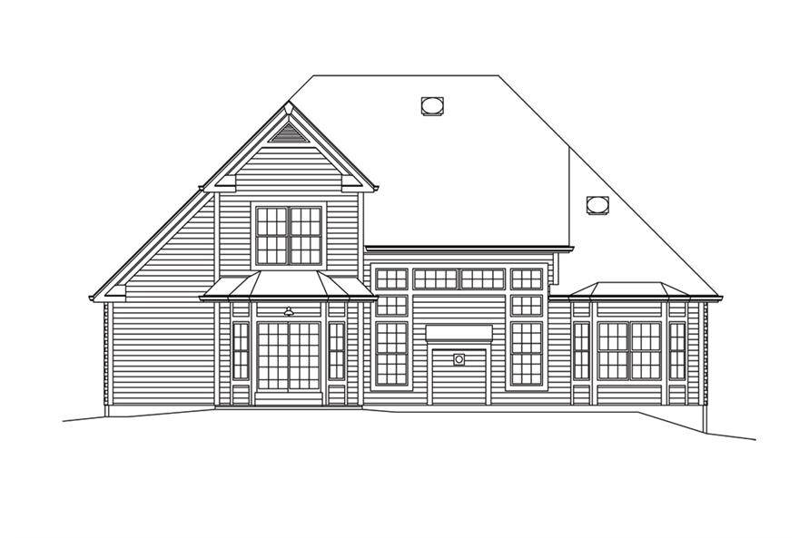 138-1293: Home Plan Rear Elevation