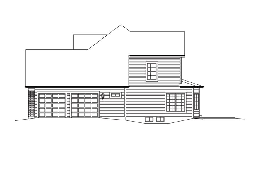 138-1293: Home Plan Right Elevation