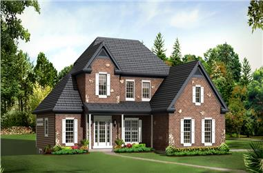 3-Bedroom, 2205 Sq Ft Country House Plan - 138-1293 - Front Exterior