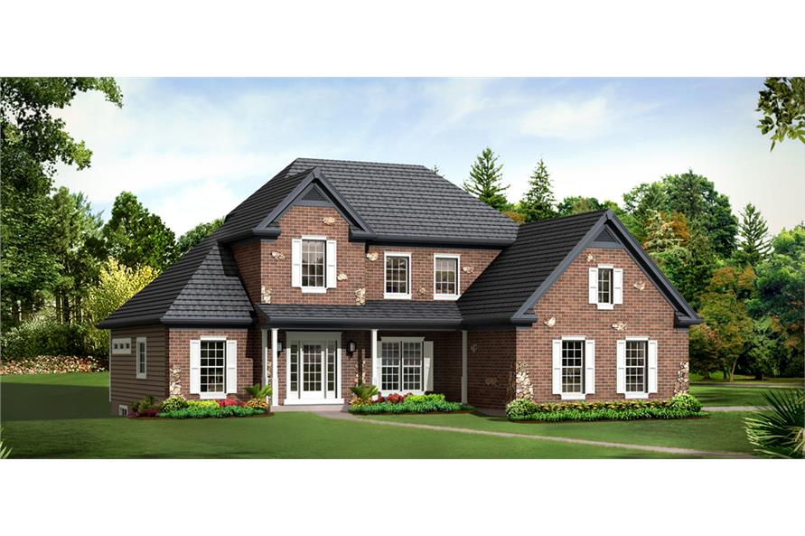 Front elevation of Country home (ThePlanCollection: House Plan #138-1293)