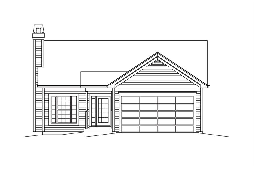138-1294: Home Plan Front Elevation