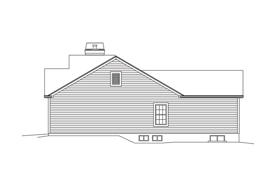 138-1294: Home Plan Right Elevation