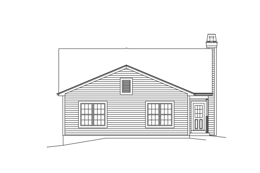 138-1294: Home Plan Rear Elevation