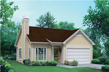 3-Bedroom, 1281 Sq Ft Traditional House Plan - 138-1294 - Front Exterior