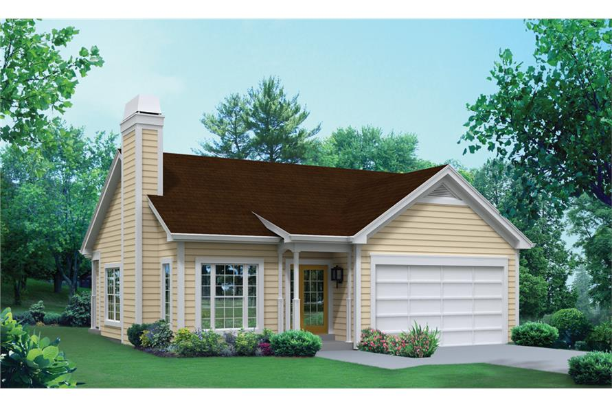 Front elevation of Traditional home (ThePlanCollection: House Plan #138-1294)