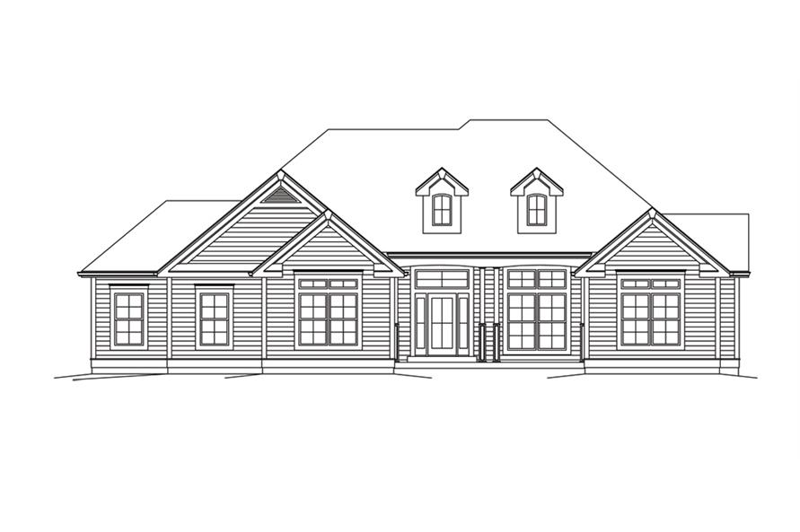 138-1295: Home Plan Front Elevation