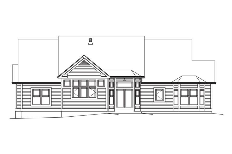 138-1295: Home Plan Rear Elevation