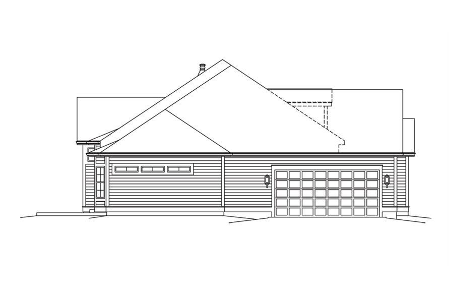 138-1295: Home Plan Left Elevation