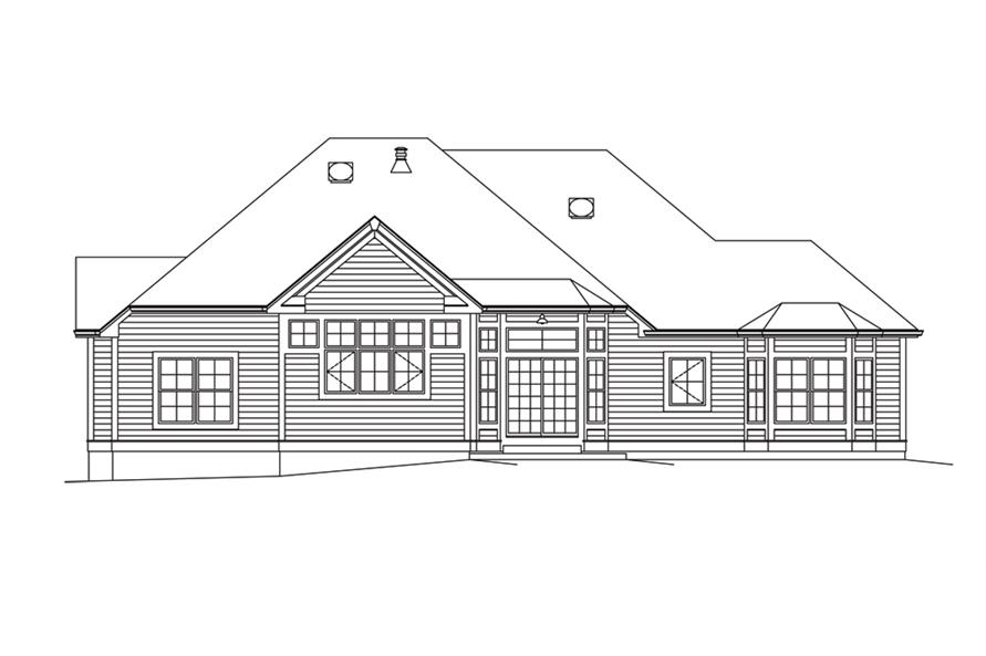 138-1295: Home Plan Rear Elevation