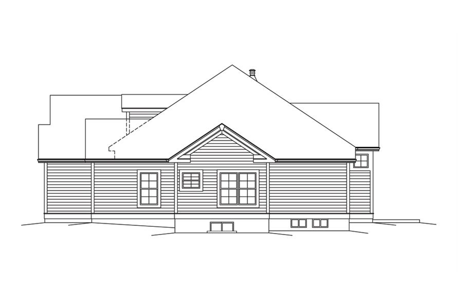 138-1295: Home Plan Right Elevation