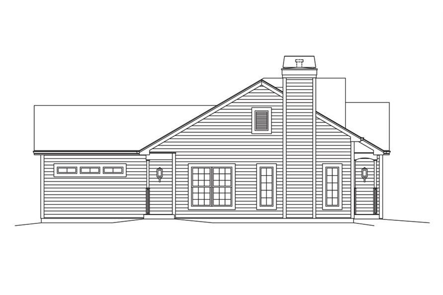 138-1296: Home Plan Left Elevation