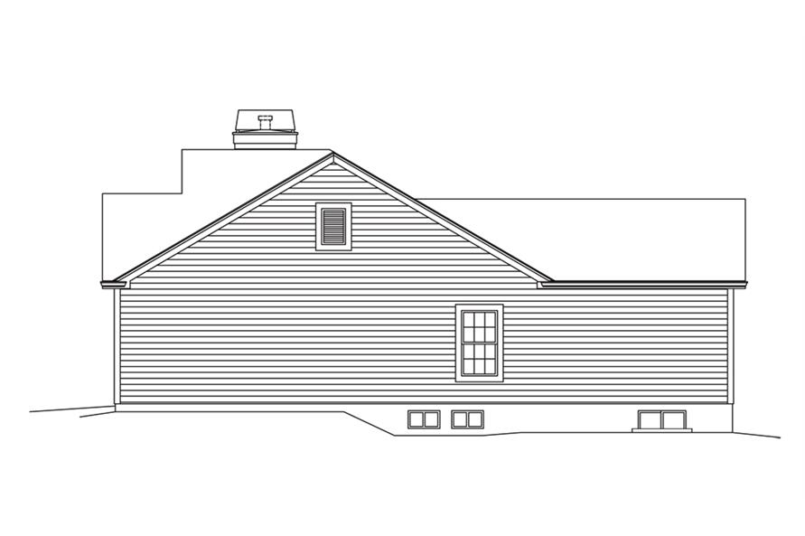138-1296: Home Plan Right Elevation