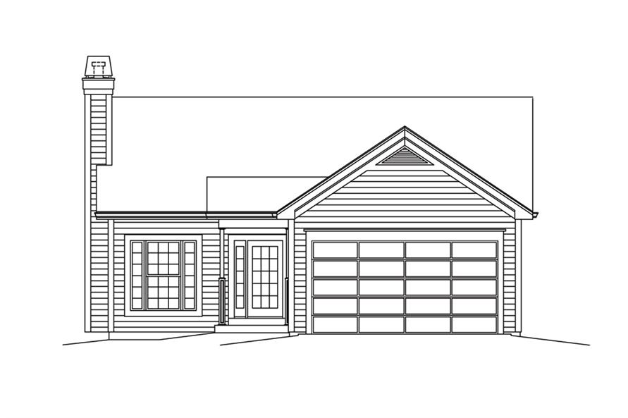 138-1296: Home Plan Front Elevation
