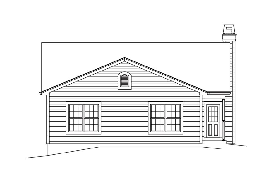 138-1296: Home Plan Rear Elevation