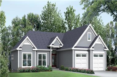 3-Bedroom, 2100 Sq Ft Ranch Home Plan - 138-1297 - Main Exterior