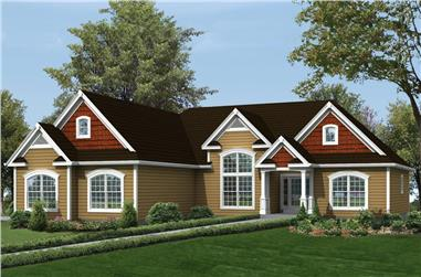 3-Bedroom, 1983 Sq Ft Ranch Home Plan - 138-1299 - Main Exterior