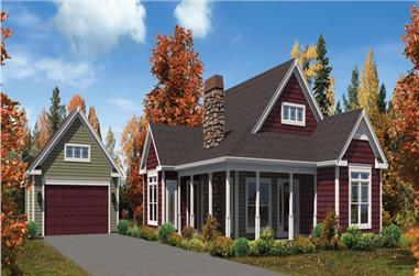 3-Bedroom, 1582 Sq Ft Cottage Home Plan - 138-1300 - Main Exterior