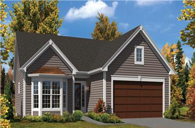 2-Bedroom, 1379 Sq Ft Ranch House Plan - 138-1301 - Front Exterior