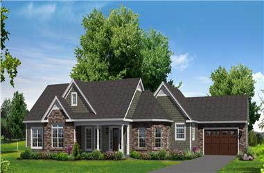 3-Bedroom, 2487 Sq Ft Ranch House Plan - 138-1302 - Front Exterior
