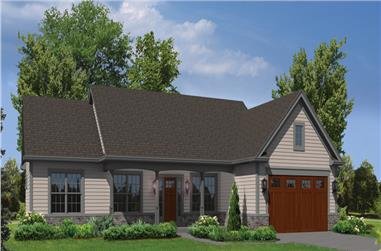 3-Bedroom, 1562 Sq Ft Country House Plan - 138-1305 - Front Exterior
