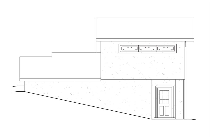 138-1306: Home Plan Left Elevation