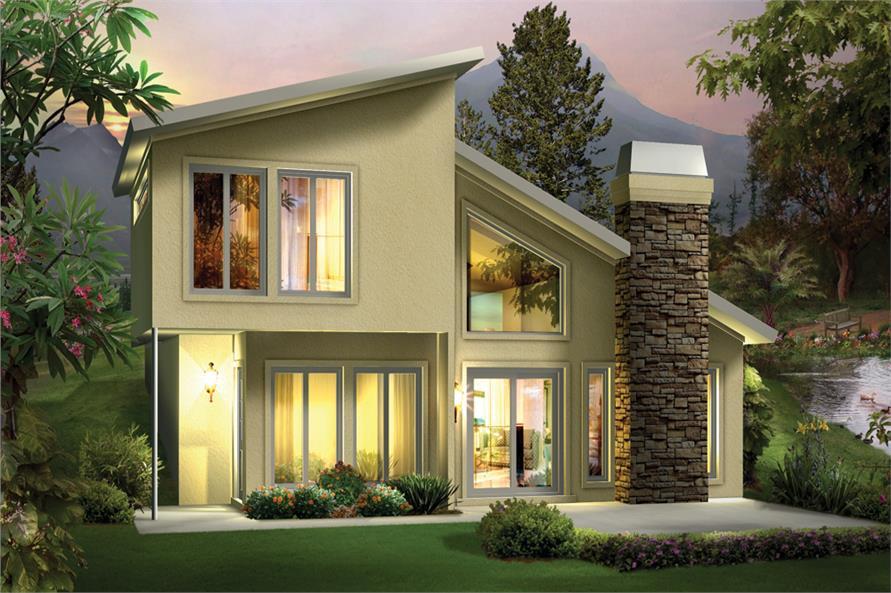 modern home plan - 2 bedrms, 1.5 baths - 1105 sq ft - #138-1306