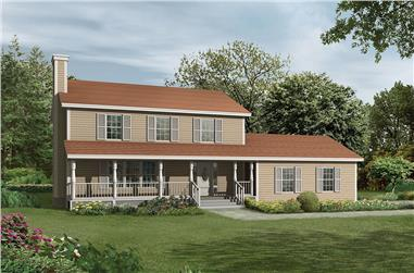 3-Bedroom, 1998 Sq Ft Country Home Plan - 138-1309 - Main Exterior