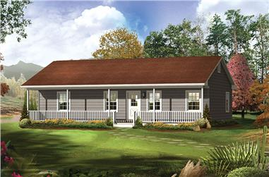 Front elevation of Country home (ThePlanCollection: House Plan #138-1312)