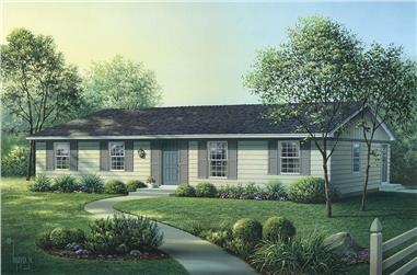 4-Bedroom, 1300 Sq Ft Country Home - Plan #138-1313 - Front Exterior