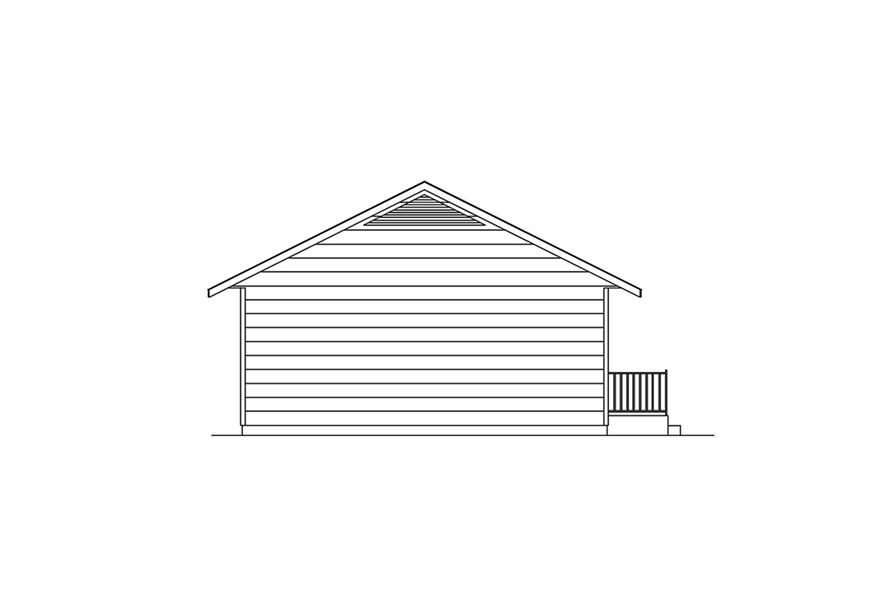 Home Plan Left Elevation of this 4-Bedroom,1536 Sq Ft Plan -138-1314
