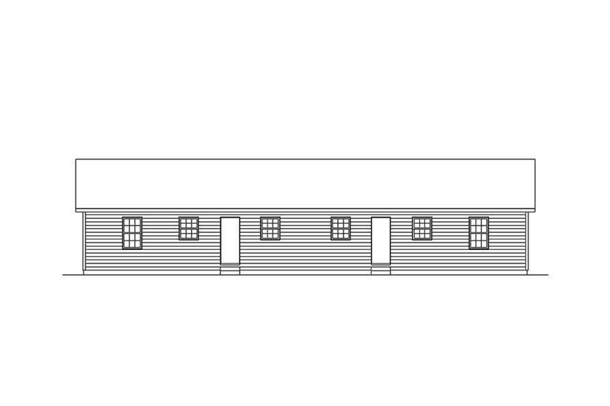 Home Plan Rear Elevation of this 4-Bedroom,1536 Sq Ft Plan -138-1314
