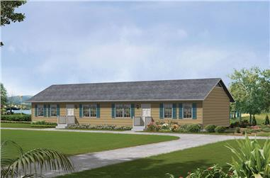Front elevation of Country home (ThePlanCollection: House Plan #138-1314)