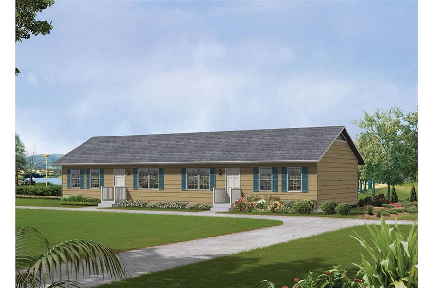 4-Bedroom, 1536 Sq Ft Country House Plan - 138-1314 - Front Exterior