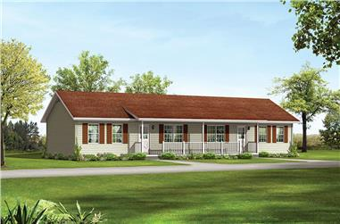 2-Bedroom, 768 Sq Ft Country House Plan - 138-1315 - Front Exterior