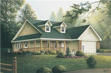 Front elevation of Country home (ThePlanCollection: House Plan #138-1317)