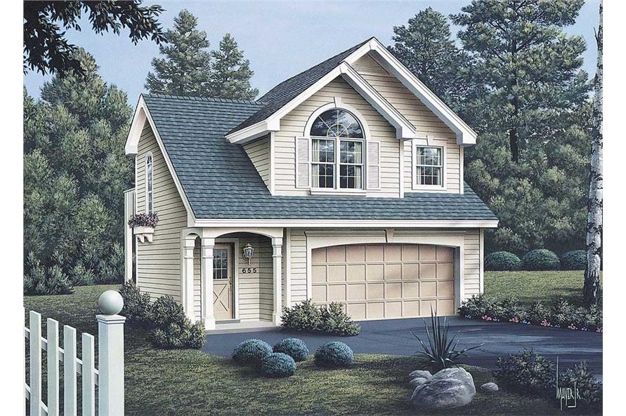 Home Plan 3D Image of this 1-Bedroom,632 Sq Ft Plan -632
