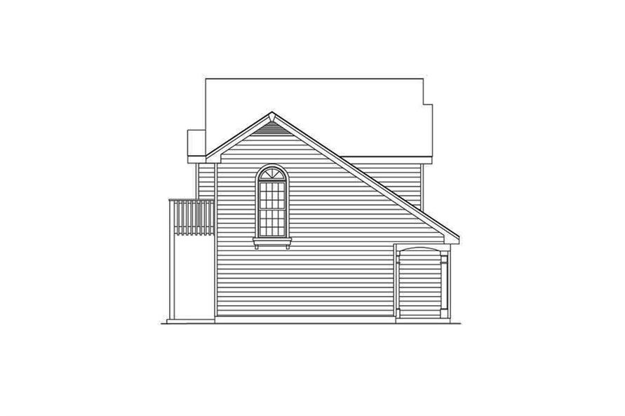Home Plan Left Elevation of this 1-Bedroom,632 Sq Ft Plan -138-1318