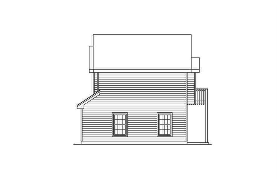 Home Plan Right Elevation of this 1-Bedroom,632 Sq Ft Plan -138-1318