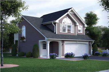 1-Bedroom, 632 Sq Ft Country House Plan - 138-1318 - Front Exterior