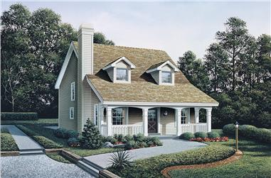 3-Bedroom, 1299 Sq Ft Country Home Plan - 138-1319 - Main Exterior