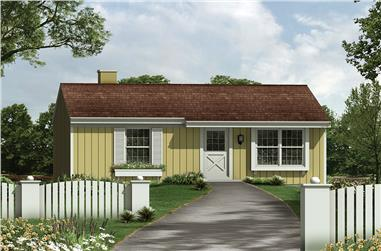 Front elevation of Country home (ThePlanCollection: House Plan #138-1322)