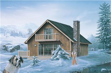 Color rendering of Vacation Homes home plan (ThePlanCollection: House Plan #138-1325)