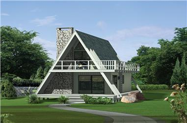 3-Bedroom, 1272 Sq Ft Vacation Homes House Plan - 138-1326 - Front Exterior