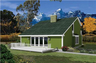 Front elevation of Vacation Homes home (ThePlanCollection: House Plan #138-1327)