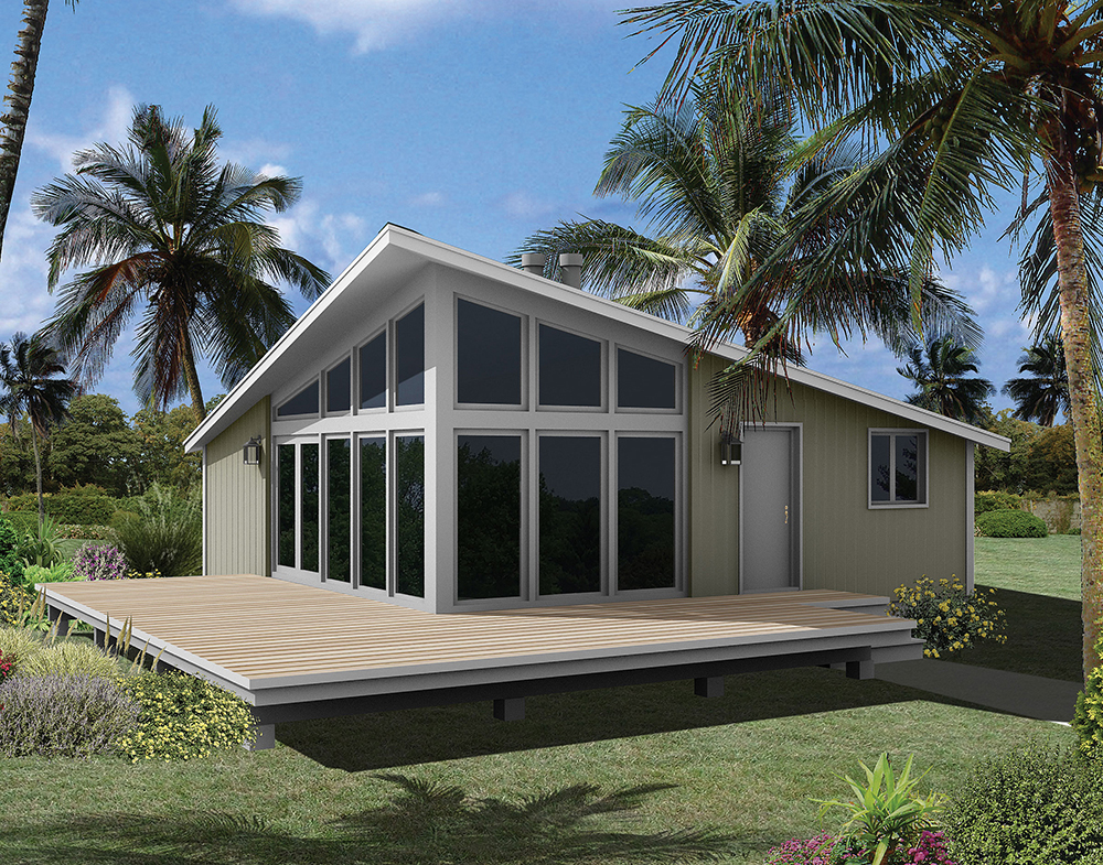 3 bedrm 784 sq ft vacation homes house plan 138 1328 for Vacation home plans