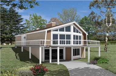 3-Bedroom, 1806 Sq Ft Vacation Homes Home Plan - 138-1329 - Main Exterior